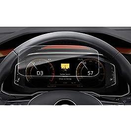 LFOTPP Compatibile con 12,3 Pollici Active Info Display Cruscotto Pellicola Protettiva in Vetro VW T-Roc