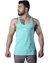 GreyWolf Arch Stringer Mint Green Men's Vest For Sports / Gym (Muta_Mint Green_Vest06) (XL)