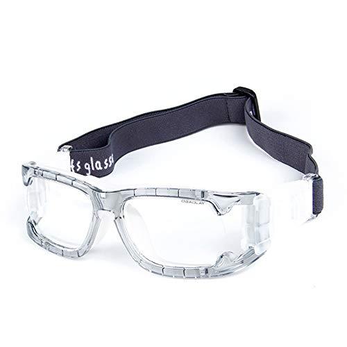 Aili Sport Schutzbrille Für Outdoor-Aktivitäten Mit Antibeschlag Schlagfeste Gläser Mit Verstellbarem Riemen Für Basketball Fußball Volleyball Hockey Rugby,Clear