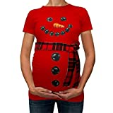Mutterschaft Umstandshirt Stillzeit Bekleifung, Malloom Weihnachten Frauen Weihnachtsschneemann Karikatur Mutterschaftst Shirts Schwangerschafts T Stück übersteigt Kleidung