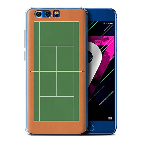 Stuff4® Phone Case/Cover/Skin hua-gc Tennis-Set Green Clay Court Huawei Honor 9