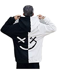 Sweat-Shirt Homme Imprime Smile Face Happiness Pull Casual Gilet À Capuche  Tops Sweatshirt Col 4c911a9047b3
