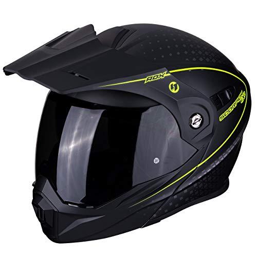 SCORPION Casque moto ADX-1 HORIZON Matt Black-Neon yellow, Noir/Fluo, XL