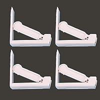 Glield 4 Piezas Plástico Blanco Mantel de Clips Pinzas Sujeta Manteles BDJ07