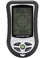 8 En 1 Multifunción Al Aire Libre Digital Brújula LCD Altímetro Barómetro Termómetro Meteorológico Reloj