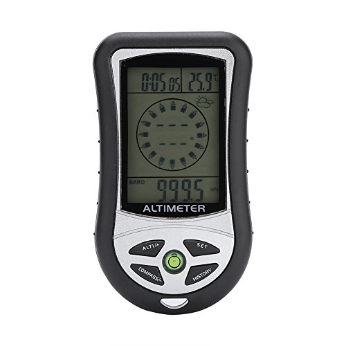 8 In 1 Multifunktions-Outdoor Digital Kompass LCD Höhenmesser Barometer Thermometer Wettervorhersage Uhr