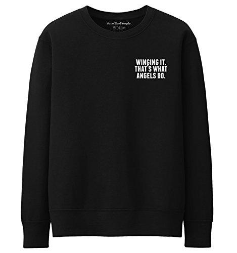 SaveThePeople - Sweat-shirt - Femme XL Noir