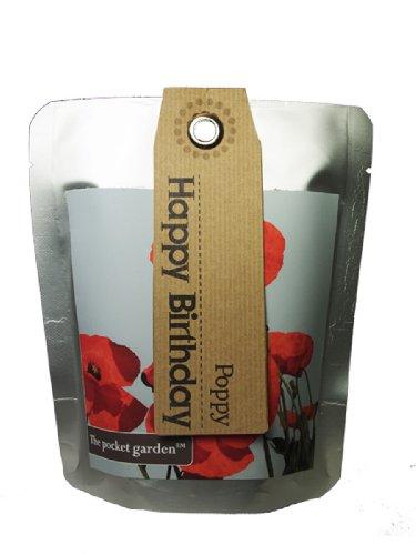 The Pocket Garden Happy Birthday Graines de coquelicot