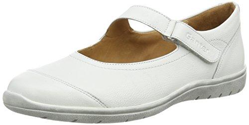 Ganter Gill, Weite G Damen Geschlossene Ballerinas Weiß (weiß/perlweiß 0203)