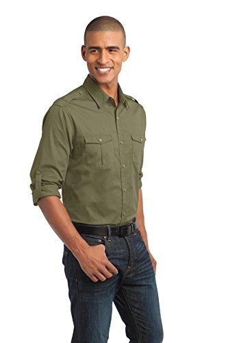 Port Authority Herren schmutzabweisend Rolle Sleeve Shirt Vintage Khaki