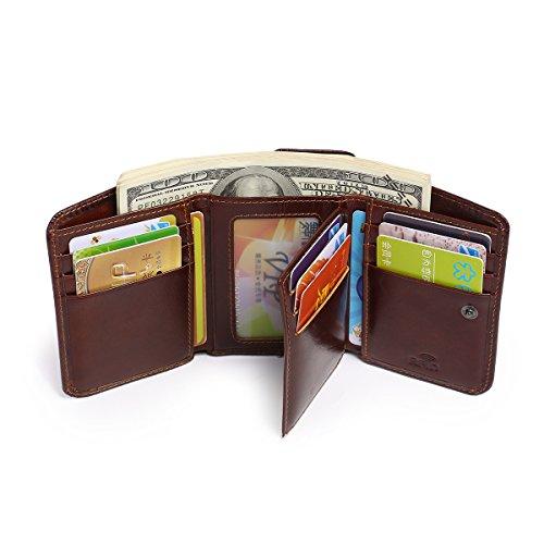 UK-aphison , Herren-Geldbörse braun schokoladenbraun