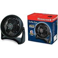 Honeywell HT900E4 - Ventilador Turbo potente para Mesa y Suelo, regulable en 3 Velocidades, tama?o Compacto, color Negro
