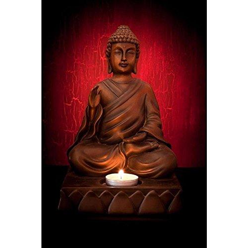 PB Meditating Buddha Pose Canvas Painting 6mm Thick MDF Frame 14 x...