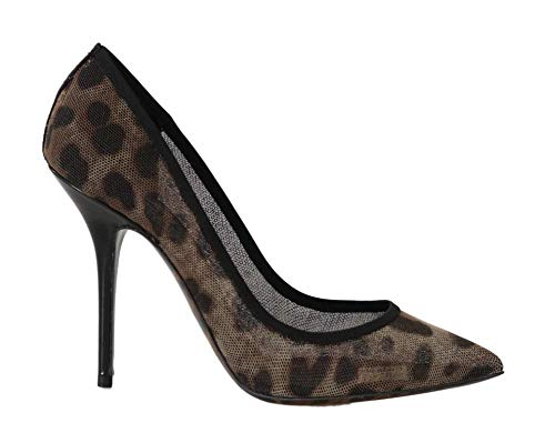 Dolce & Gabbana - Damen Schuhe - Pumps Brown Leopard Transparent Tulle Pumps Dolce Gabbana Pumps