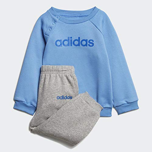adidas Baby Linear Jogger Trainingsanzug,  Real Blue/Medium Grey Heather/Blue, 86 (M)