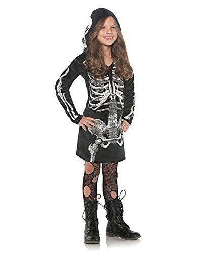 Horror-Shop-Skeleton-Kapuzenkleid-fr-Mdchen-als-Halloween-Gothic-Faschingskostm-S