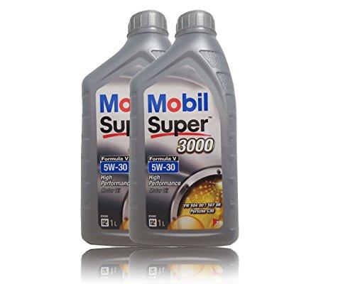 Preisvergleich Produktbild Mobil Super 3000 Formula V 5W-30 Longlife III Motorenöl,2x 1 Liter …