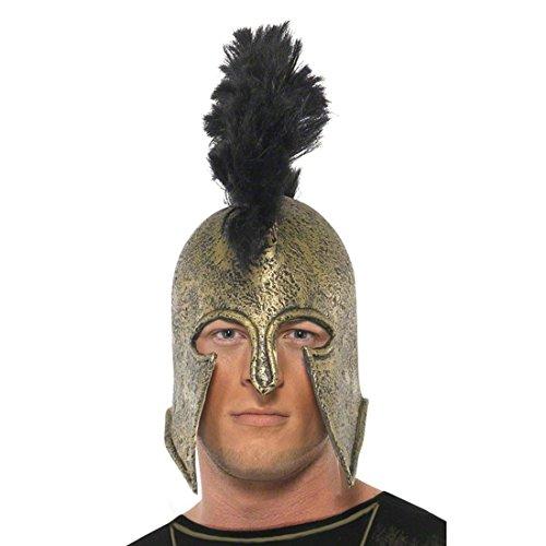 Antiker Krieger Helm Achilles Römerhelm gold Spartaner Helm -