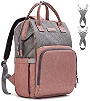 Diaper Bag Backpack Nappy Bag, Baby Bags for Mom Maternity Diaper Bag with USB Charging Port Stroller Straps Thermal Pockets|Wide Shoulder Straps|Water.