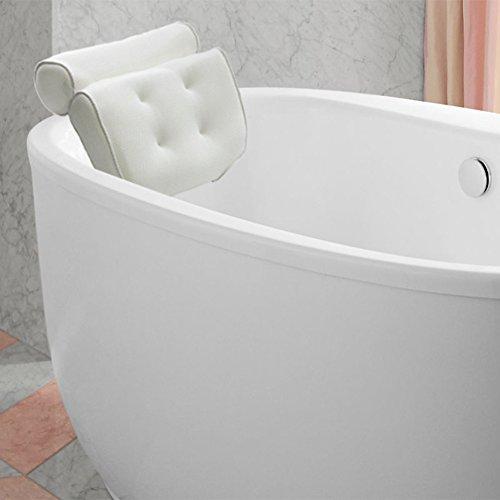 kati-way Badewannenkissen, 3D-Netzstoff, wasserdicht und weich, rutschfeste Saugnäpfe, für Badewanne oder Badezimmer, Badewannenkissen, bequem für Kopf und Nacken.
