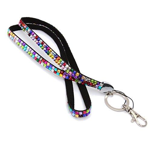 Audew Strap Strass Bling Kristall Benutzerdefinierte Lanyard für Ausweishalter, Schlüsselanhänger (Strap Luggage Id)