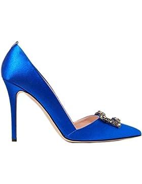 QVRGE Scarpe A Tacco Alto Da Donna Scarpe Semplici Di Moda Blu Di Grandi Dimensioni