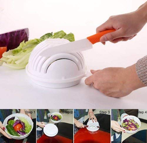 make your salad in 60 seconds!!! healthy easy bowl speed cutter vegetable salad bowl bbq barbecue fruit