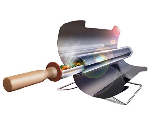 Horno solar portable alimenticio sin humo inoxidable plegable, Fácil, delicioso y versátil para 1-2 /3-5 personas (delicioso y versátil para 3-5personas)