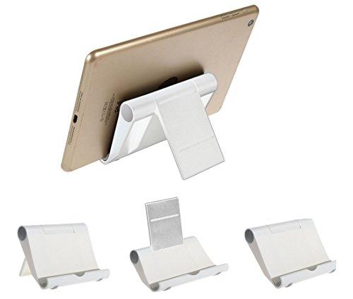 BRALEXX Universal-Halterung Tisch-Ständer Tablet-Halter für Apple iPad Reihe weiß (iPad 1, 2, 3, 4, 5 LTE Pro mini uvm.)