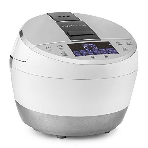KLARSTEIN Hotpot Robot de Cocina multifunción 23 en 1 (950 W, 5 L, Control táctil, Olla Lenta, Vapor, freidora, yogurtera, Horno, arrocera, 23 programas) - Blanco