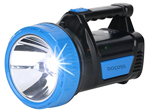 DOCOSS- ABS 25 W Ultra Bright Waterproof Rechargeable Led Torch Light Laser Long Range High Power Torch + Emergency Lights Tube (Multi Color)