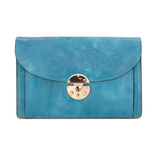 Pratesi Tullia d'Aragona sac à main - R203/D Radica (Crème) Bleu ciel