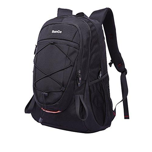 Zaino da Trekking Sport All'aperto Laptop Scuola Viaggi Arrampicata Campeggio Grande capacità Zaino Impermeabile Casuale Daypack Moda Oxford Pacco Pack per Uomini Donne Studenti, Nero