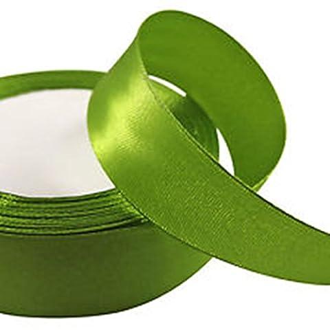 Vert olive–22–25m x 25mm Ruban de satin pour mariage en/Craft/Cadeau de Noël/– GCS Londres