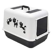 Petimister Kedi Kapalı Filtreli Tuvalet Kabı 54.5 x 39.5 x 39 cm