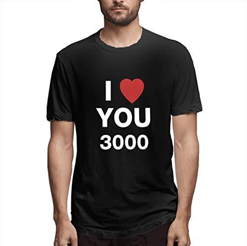 Deal! T-Shirt Herren Sommer Pullover Slim Fit T-Shirts I Love You 3000