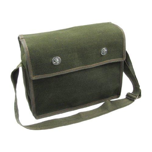 Zwei Pocket Leinwand (Army Green verstellbarer Schultergurt 2Pockets Elektriker Leinwand BAG)