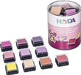 Heyda 204888471 Heyda 204888471 Mini-Stempelkissen Set (Sunrise) 3 x 3 cm , 10 Rot-Töne sortiert