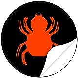 Halloween Dekoration / Aufkleber / Sticker / 48 Stück / Spinne zum kleben / Dekorieren / Farbe Schwarz / Selbstklebend / Rund
