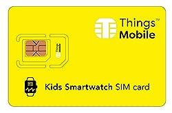 SIM-Karte für SMARTWATCH für KINDER - Things Mobile - mit weltweiter Netzabdeckung und Mehrfachanbieternetz GSM/2G/3G/4G. Ohne Fixkosten und ohne Verfallsdatum. 10 € Guthaben inklusive