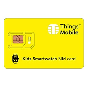 Tarjeta SIM para SMARTWATCH / RELOJ INTELIGENTE PARA NIÑOS - Things Mobile - cobertura global, red multioperador GSM/2G/3G/4G, sin costes fijos, sin vencimiento. Crédito no incluido 1