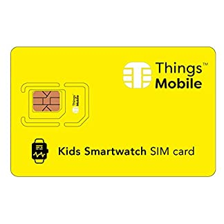 Tarjeta SIM para SMARTWATCH / RELOJ INTELIGENTE PARA NIÑOS – Things Mobile – cobertura global, red multioperador GSM/2G/3G/4G, sin costes fijos, sin vencimiento. Crédito no incluido