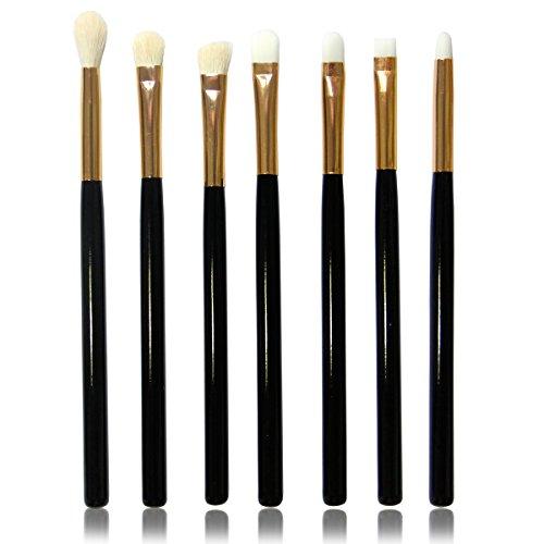 Vococal® 7 Pcs Bois Longue Poignée Laine-Comme Cheveux Visage Maquillage Brosse Cosmétiques Set