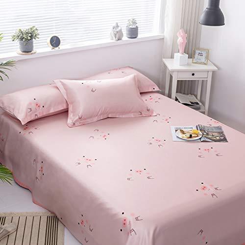 ilk Summer Schlafmatte Dreiteilige, Faltbare, waschbare Summer Ice Silk Superweiche Bettwäsche mit Kissenbezügen Klimaanlage Raumkühlkissen Pad Pink Pig (Size : 2m(6.6ft)) ()