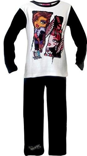 Kleidung High Monster (Mädchen Monster High lange Pyjamas / PJs *** NEU ***)