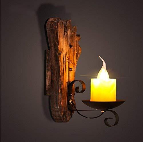 Amerikanischen Stil Retro LOFT Gang Diffuse Kaffee Restaurant Netto Kerzenhalter kreative Persönlichkeit Nacht Boot Holz Massivholz Schlafzimmer Wandleuchte -