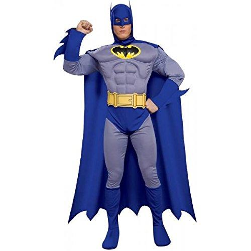 Brust Kostüm Das Batman Muskel Für Erwachsene - Generique Batman-Kostüm muskulös für Herren L