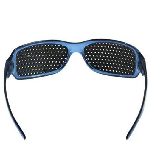 FreshGadgetz Set de 1 Lentes con agujeros Negro Rojo Azul Marrón para mejorar el cuidado de la vista