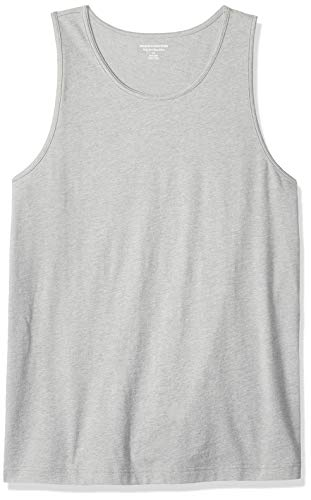 95018ce41a0 Amazon Essentials Regular-Fit Solid Top Novelty-Tank-Tops, Light Gray  Heather
