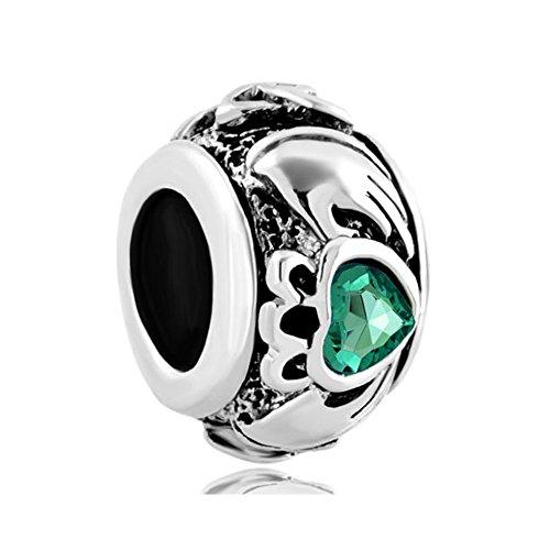 Outcharmed, charm a forma di cuore celtico, simbolo di amicizia, compatibile con braccialetti pandora